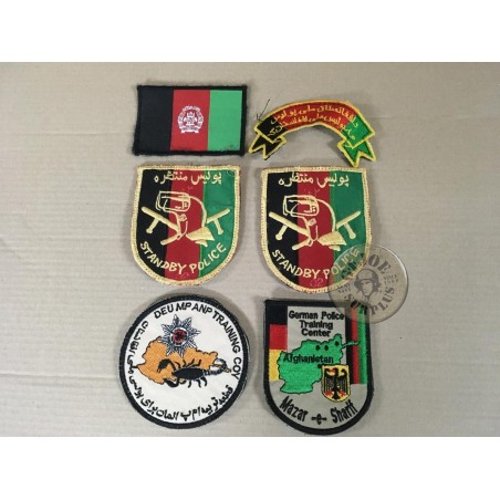 SOLD!!!PATCHES FROM THE AFGHANISTAN/GERMAN POLICE SCHOOL