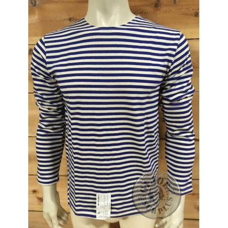 TELNYASHKA LONG SLEEVE GENUINE RUSSIAN LIGHT BLUE STRIPES