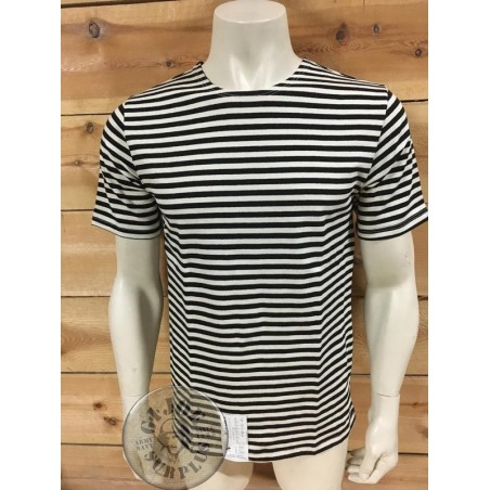 TELNYASHKA SHORT SLEEVE GENUINE RUSSIAN/BLACK STRIPES