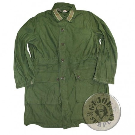 SWEADISH ARMY GREEN M1959 PARKA USED GREAT CONDITION