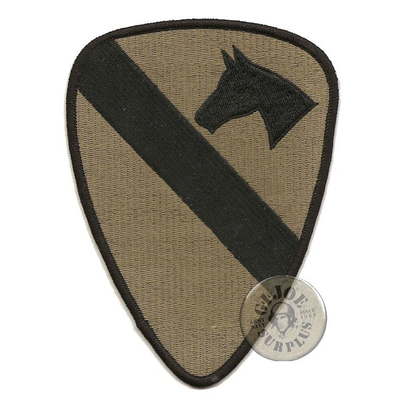 """PARCHE """"1ST CAVALRY DIVISION"""" SUBDUED"""