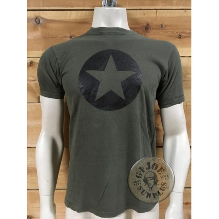 ORIGINAL ARMY RECICLED T/SHIRTS WITH PRINT ON /BLACK STAR