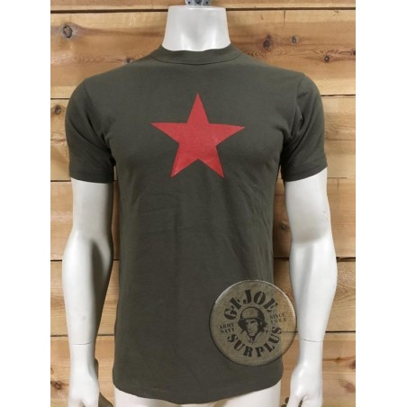 ORIGINAL ARMY RECICLED T/SHIRTS WITH PRINT ON /RED STAR
