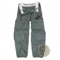 """KOSUMO STONEWASHED"" CARGO TROUSERS GREEN COLOUR"