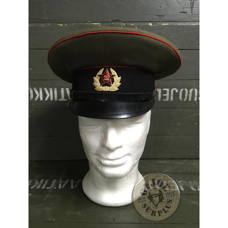 "SOVIET UNION ARMY OFFICERS CAP/TROOP ""TANKS"" USED CONDITION"