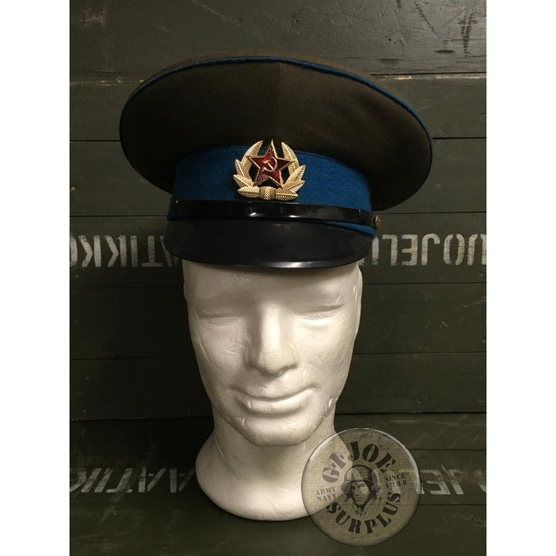 SOVIET UNION AIR FORCE OFFICERS CAP/TROOP USED CONDITION