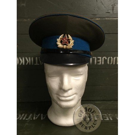 SOVIET UNION AIR FORCE OFFICERS CAP /TROOP USED CONDITION