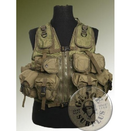 "TACTICAL VEST ""MILTEC 9 POCKETS""/GREEN COLOUR"
