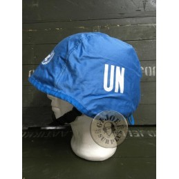 GERMAN ARMY COVER FOR KEVLAR HELMET USED/UNITED NATIONS