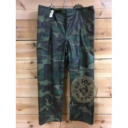 US ARMY WET WEATHER UNIFORM CAMO WOODLAND NEW/PVC TROUSERS