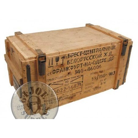 WOODEN BOX SOVIET UNION ARMY USED CONDITION LARGE MODEL