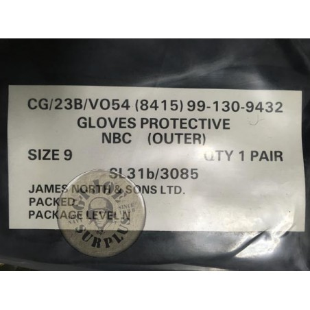 NBC RUBBER GLOVES NEW CONDITION