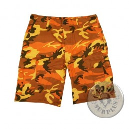 BDU CARGO SHORTS/ORANGE CAMO