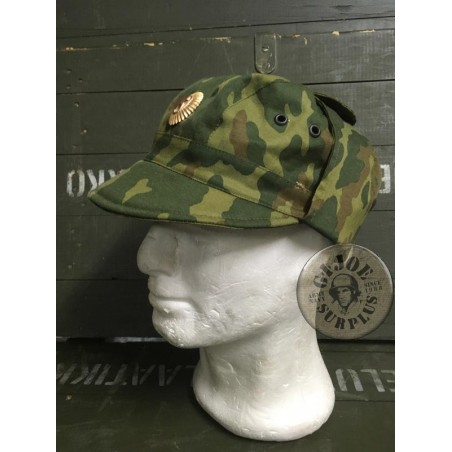 SOLD!!!!UNIQUE COLLECTOR ITEM/RUSSIAN OFFICER TXTXEN WAR VSR91 CAMO CAP AS NEW