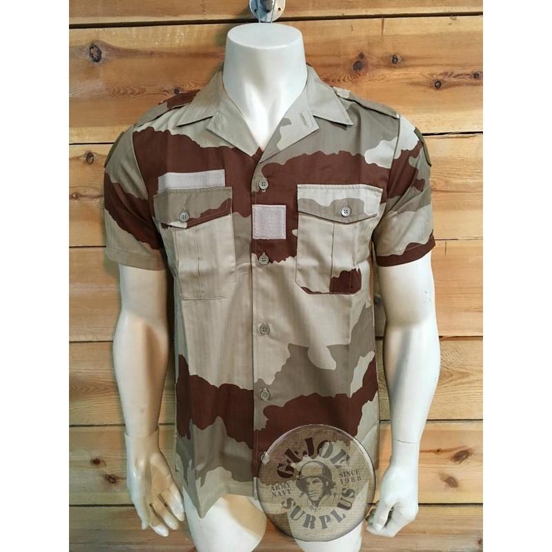 FRENCH ARMY CEE DESERT CAMO UNIFORM BRAND NEW/SHORT SLEEVE SHIRT