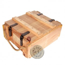 WOODEN BOX FRENCH ARMY/WOOD COLOUR
