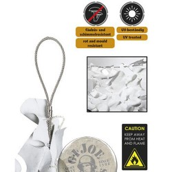 """RED 75% SOMBRA 3X3M """"CABLE CAMO SYSTEMS"""" BLANCA (9m2)"""