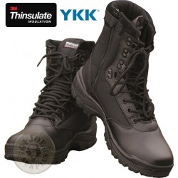 "TACTICAL BOOT ""THINSULATE ZIP"" / BLACK COLOUR"
