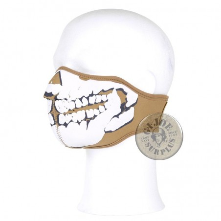 PROTECTION FACE MASK /SKULL NEOPREN COYOTE