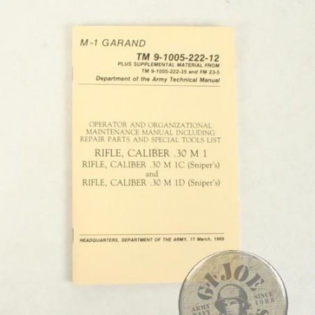 MANUAL DE USO y CUIDADO DEL FUSIL M1 GARAND EDICION DE 1969 NUEVOS