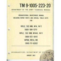 MANUAL DE USO y CUIDADO DEL FUSIL M14 EDICION DE 1972 NUEVOS