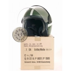 GERMAN ARMY MILITARY POLICE MOTORCYCLE HELMET USED