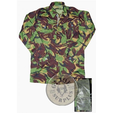 BRITISH ARMY TROPICAL No9 CAMO DPM SHIRT USED