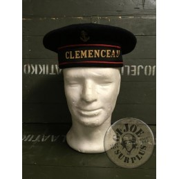 "COLLECTORS ITEM/FRENCH NAVY SAILOR CAP ""CLEMENCEAU SHIP"" USED CONDITION"