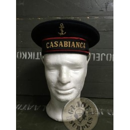 "COLLECTORS ITEM/FRENCH NAVY SAILOR CAP ""CASABLANCA"" USED CONDITION"