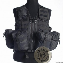"TACTICAL VEST MOLLE ""8 POCKETS""/BLACK COLOUR"