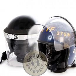 BRITISH POLICE RIOT HELMETS USED