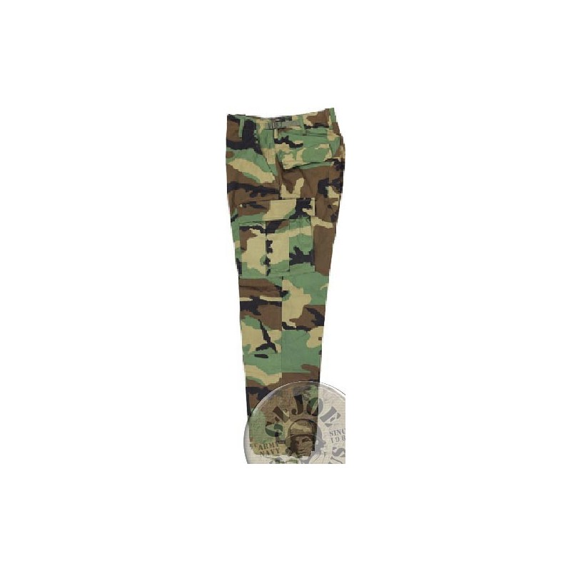BDU TROUSERS COTTON WOODLAND NEW