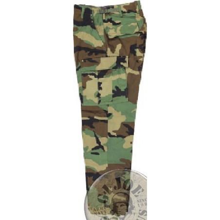 US ARMY BDU WOODLAND CAMO TROUSERS NEW