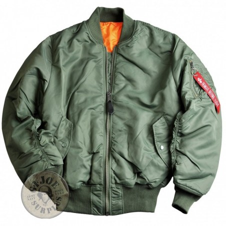"""ALPHA INDUSTRIES"" MA1 JACKET GREEN COLOUR"