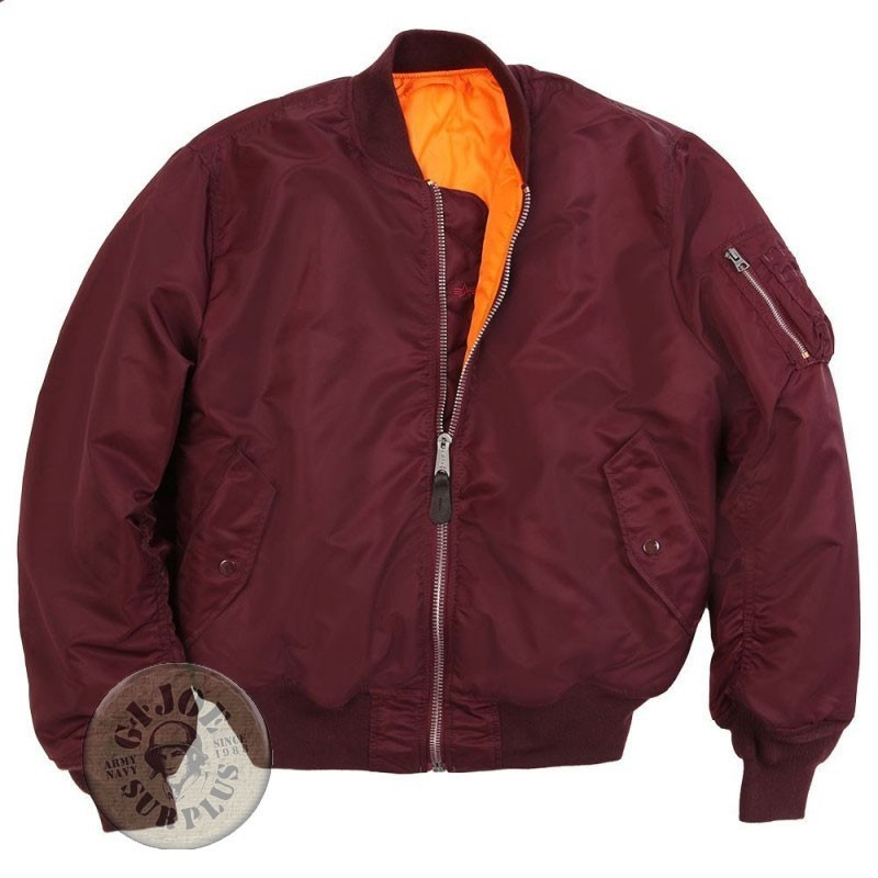 """ALPHA INDUSTRIES"" MA1 JACKET BURGUNDY"