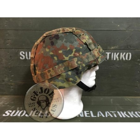 GERMAN ARMY FLECKTARN CAMO PASGT HELMET COVER USED