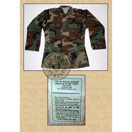 UNIFORMITAT US ARMY BDU WOODLAND RIPSTOP USAT /JAQUETES