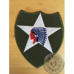 """PARCHE """"2ond INFANTRY DIVISION INDIAN HEAD"""" SMALL"""