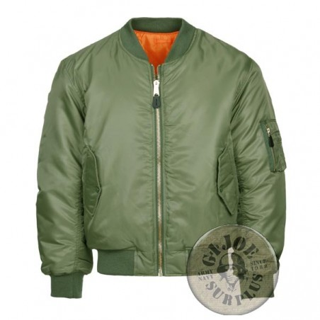 MA1 PILOT JACKET GREEN COLOUR