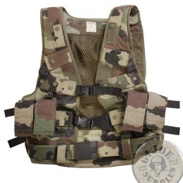 FRENCH ARMY CEE CAMO EQUIPMENT USED /TACTICAL VEST
