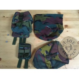 BELGIUM ARMY CAMO JIGSAW EQUIPMENT USED /MIXED POUCHES