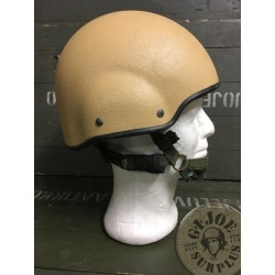 "BRITISH ARMY KEVLAR HELMET ""MK7"" USED WITH COVER"
