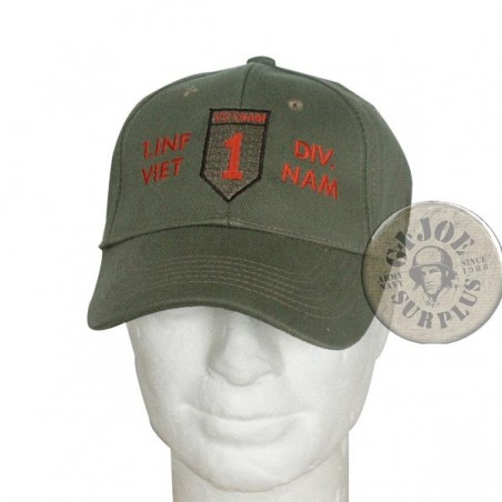 "BASEBALL CAP VIETNAM TRIBUTE COLLECTION ""1st INFANTRY DIVISION"""