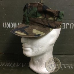 USMC CAP WOODLAND USED