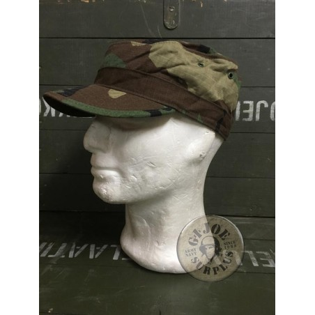 US ARMY BDU CAPS RIPSTOP WOODLAND USED