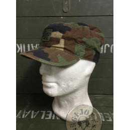 US ARMY BDU WOODLAND RIPSTOP UNIFORM USED / CAPS WITH RANKS