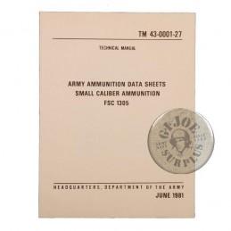 US ARMY MANUAL/SMALL AMMO DATA 1981