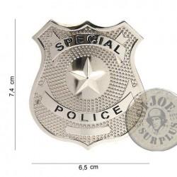 """PLACA POLICIAL DE PIT """"US SPECIAL POLICE"""" NOVES"""