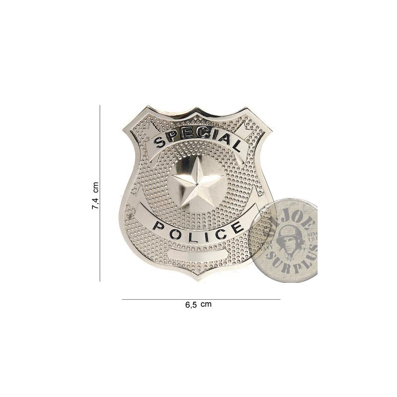 """POLICE CHEST INSIGNIA """"US SPECIAL POLICE"""" NEW"""