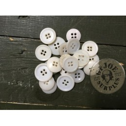ARMY WHITE PLASTIC BUTTONS X20